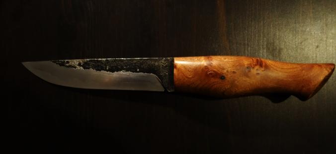 Couteau bushcraft de 260mm  loupe d'orme_forges de midgard_2