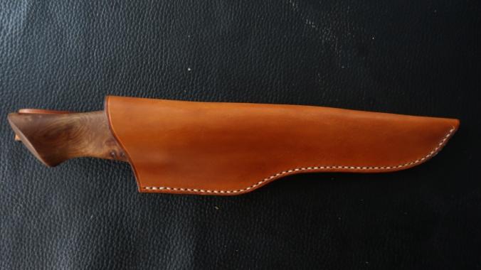 Couteau bushcraft de 260mm  loupe d'orme_forges de midgard_4
