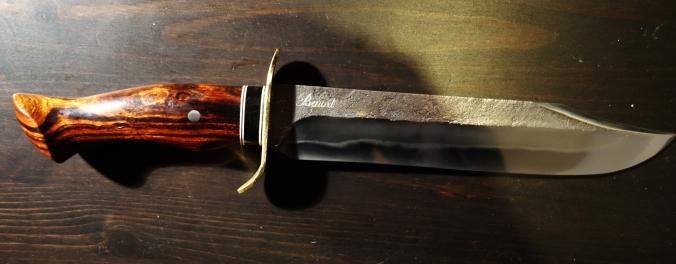 Garde en laiton / manche en bois de fer et corne de buffle