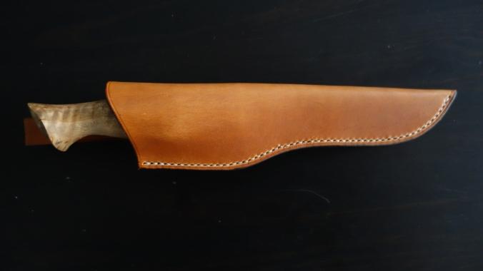 Couteau bushcraft de 240mm, manche en bouleau madré_Forges de Midgard_3